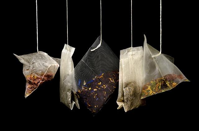 sachet thé usagé recycler